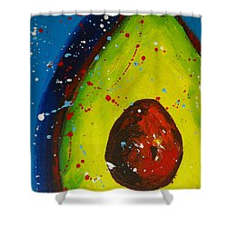 Crazy Avocado V Shower Curtain