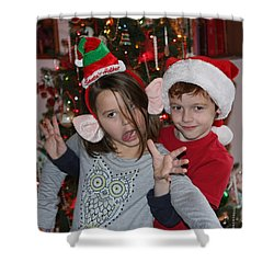 Shower Curtain featuring the photograph Crazy Christmas by Denise Romano
