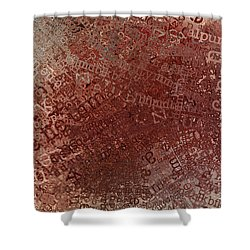 Crazy Grunge Type Abstract Shower Curtain