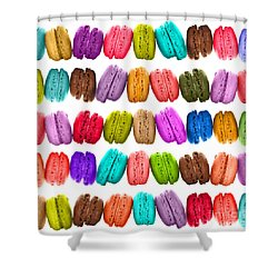 Crazy Macarons  Shower Curtain by Delphimages Photo Creations