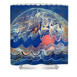 Crazy Oyster Shower Curtain