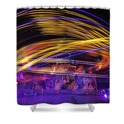 Crazy Ride Shower Curtain by Ray Warren
