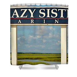 Crazy Sister Marina Shower Curtain by Cynthia Guinn