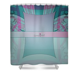 Cream Mint Line Shower Curtain
