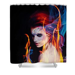 Creation Fire And Flow Shower Curtain