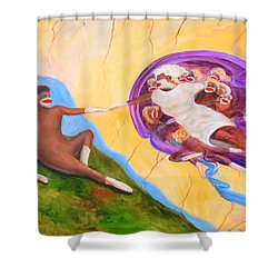 Creation Of A Sock Monkey Shower Curtain
