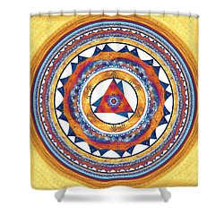 Creative Energy Shower Curtain by Anastasiya Malakhova