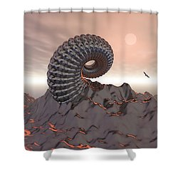 Creature Of The Mountain Shower Curtain by Phil Perkins