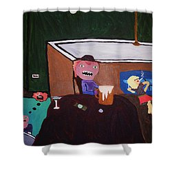Creatures Of The Night Shower Curtain by Bamhs Blair