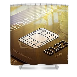Credit Card Macro - 3d Graphic Shower Curtain by Johan Swanepoel