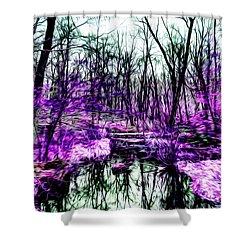 Creek By Purple Shower Curtain