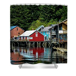 Creek Street - Ketchikan Alaska Shower Curtain