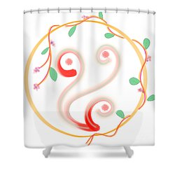 Creeper In A Circle Shower Curtain