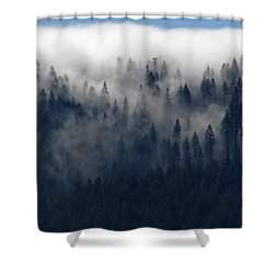 Shower Curtain featuring the photograph Creeping Clouds by Andy Crawford