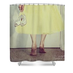 Creeping In Late Shower Curtain by Linda Lees