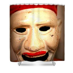 Creepy Clown Shower Curtain by Lynn Sprowl