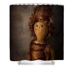 Creepy - Doll - Matilda Shower Curtain by Mike Savad