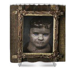 Creepy Relative Shower Curtain by Edward Fielding