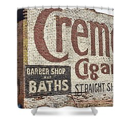 Cremo Cigar Shower Curtain by Cathy Anderson