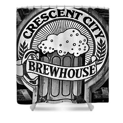 Crescent City Brewhouse - Bw Shower Curtain by Kathleen K Parker