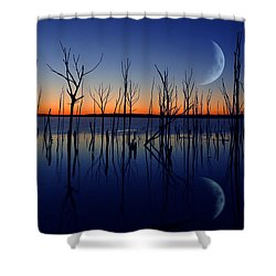 The Crescent Moon Shower Curtain by Raymond Salani III
