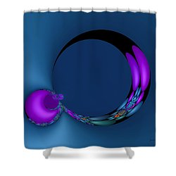 Crescent Moons Shower Curtain by Judi Suni Hall