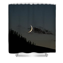 Shower Curtain featuring the photograph Crescent Silhouette by Jeremy Rhoades