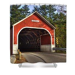 Cresson Covered Bridge 2 Shower Curtain by Joann Vitali