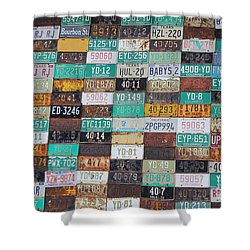 Crested Butte License Plate House Shower Curtain