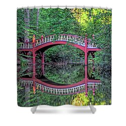 Crim Dell Bridge In Summer Shower Curtain