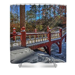 Crim Dell Bridge William And Mary Shower Curtain