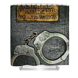 Crime Scene Investigation Shower Curtain by Paul Ward