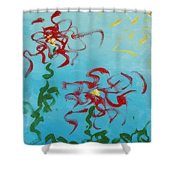 Crimson And Clover 2 Shower Curtain