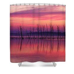 Crimson Morn Shower Curtain