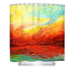 Crimson No.2 Shower Curtain
