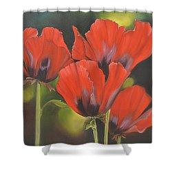 Crimson Petals Shower Curtain