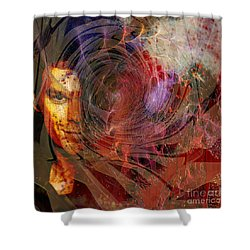 Crimson Requiem - Square Version Shower Curtain