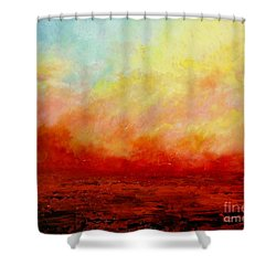 Crimson Shower Curtain