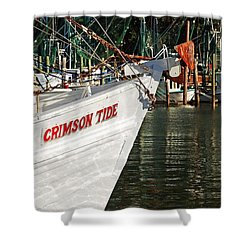 Crimson Tide Bow Shower Curtain by Michael Thomas