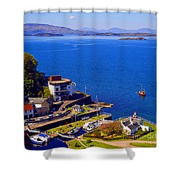 Crinan Harbour Scotland Shower Curtain by Craig B