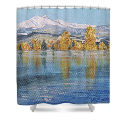 Crisp Morning Shower Curtain by Margaret Bobb