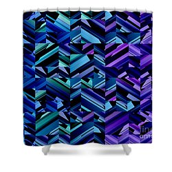 Criss Cross Blues Shower Curtain