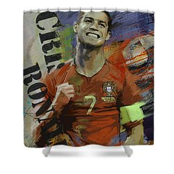 Cristiano Ronaldo - B Shower Curtain