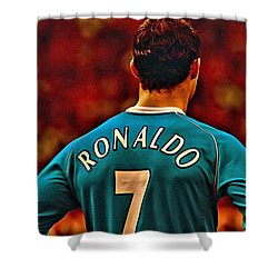 Cristiano Ronaldo Poster Art Shower Curtain