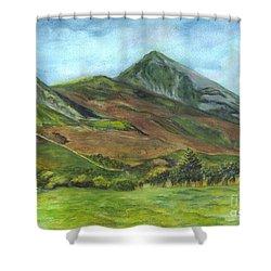 Croagh Saint Patricks Mountain In Ireland  Shower Curtain