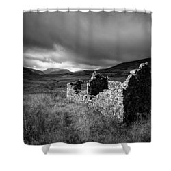 Crofters Cottage Ruin Shower Curtain by Dave Bowman