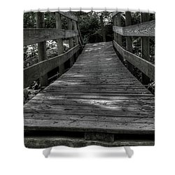Crooked Bridge Shower Curtain