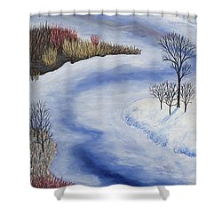 Crooked Creek Shower Curtain