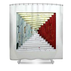 Crooked Staircase Shower Curtain