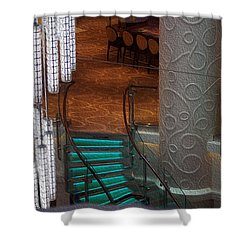 Crooked Stairs Norwegian Shower Curtain